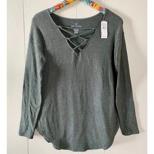 American Eagle Soft and Sexy Plush Long Sleeve Top